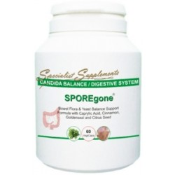 SporeGone Anti-Candida Yeast Supplement 60 V-Caps